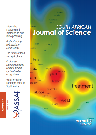 South African Journal of Science 110 cover